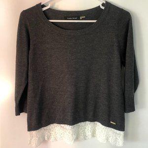 IVANKA TRUMP dark gray pullover sweater